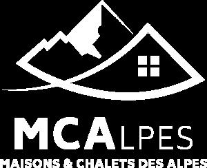 logo blanc constructeur maison et chalets des alpes