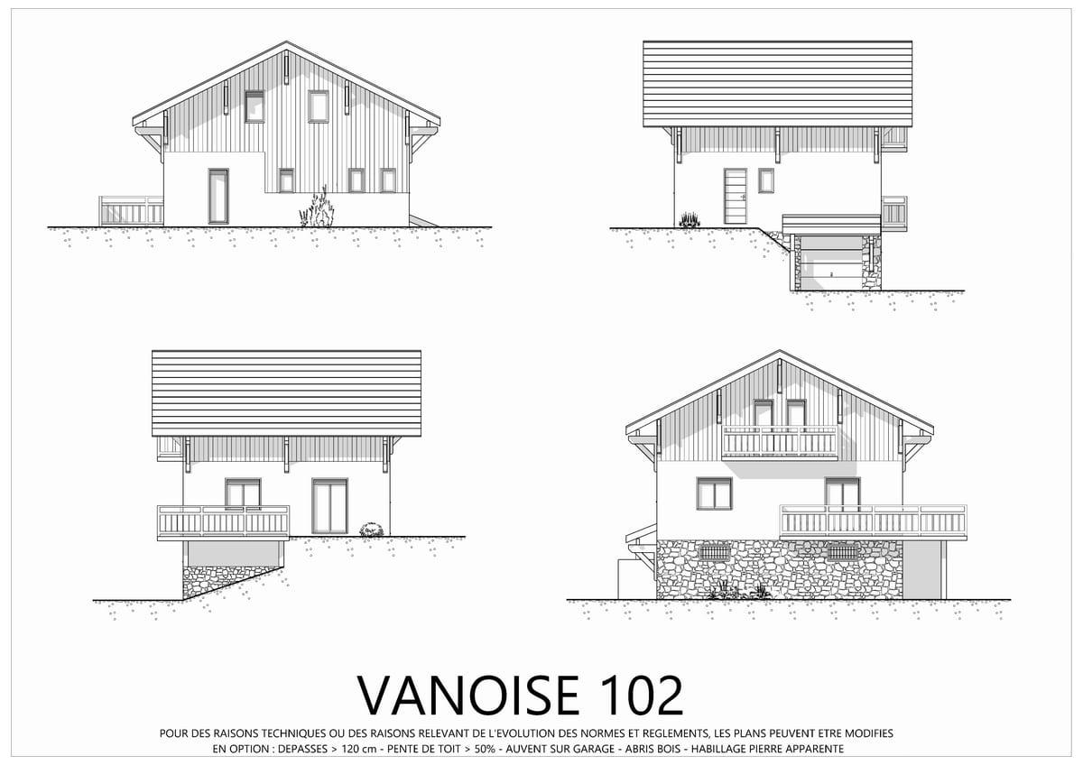 Plan Pour Construire Un Auvent En Bois vanoise - maison architecte