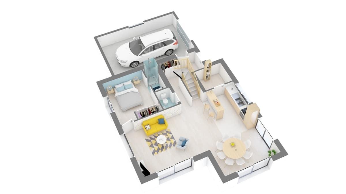 plan maison_coquelicot-g0-axo_rdc