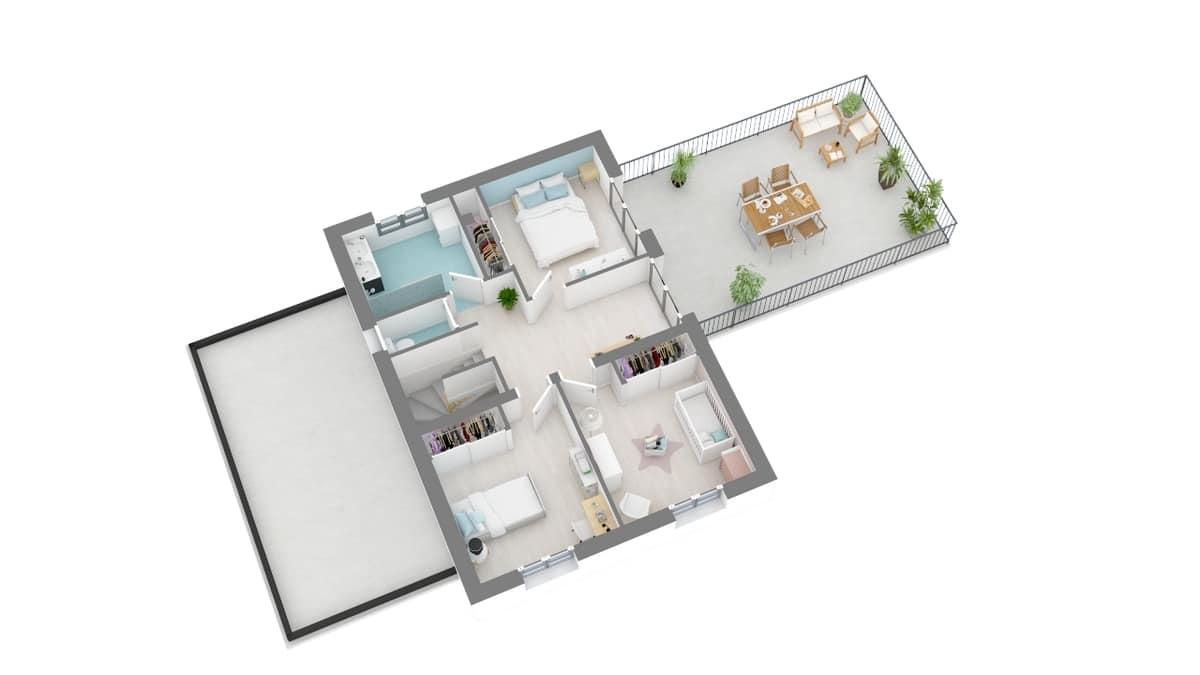 plan maison_gardenia-g1-axo_etage