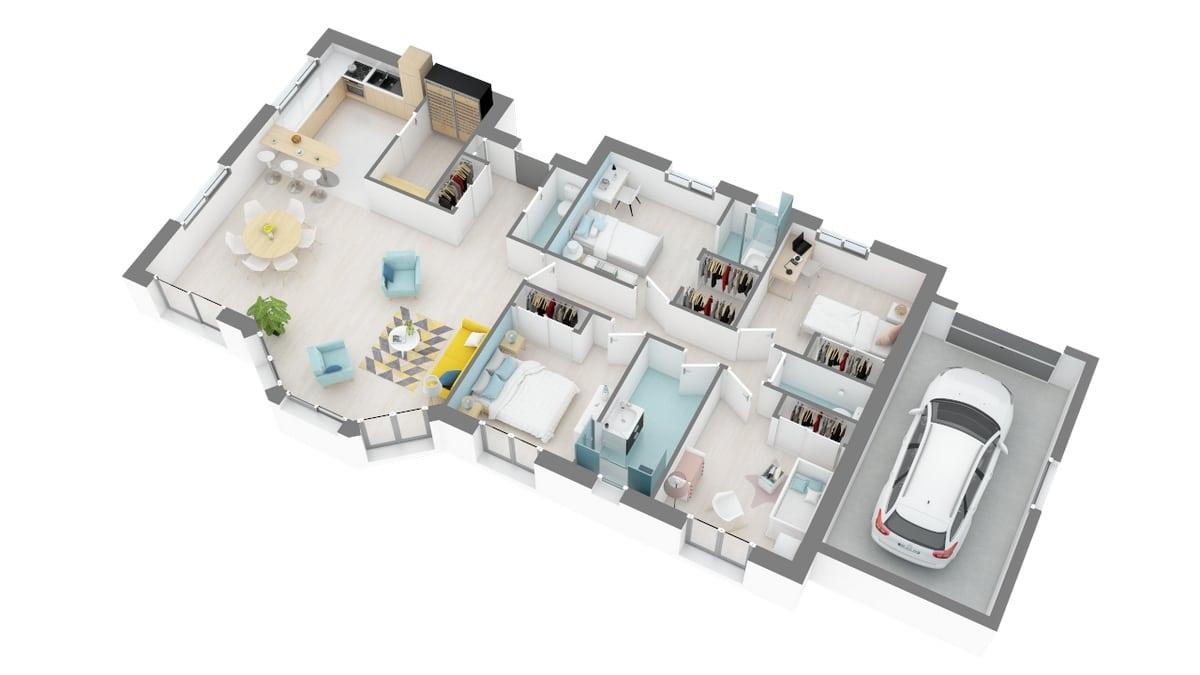 plan maison_lilas-g0-axo_rdc