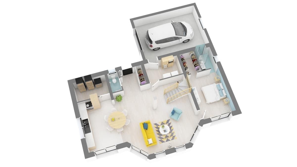 plan maison_lotus-g0-axo_rdc