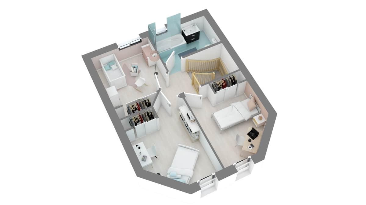 plan maison_lotus-g1-axo_etage
