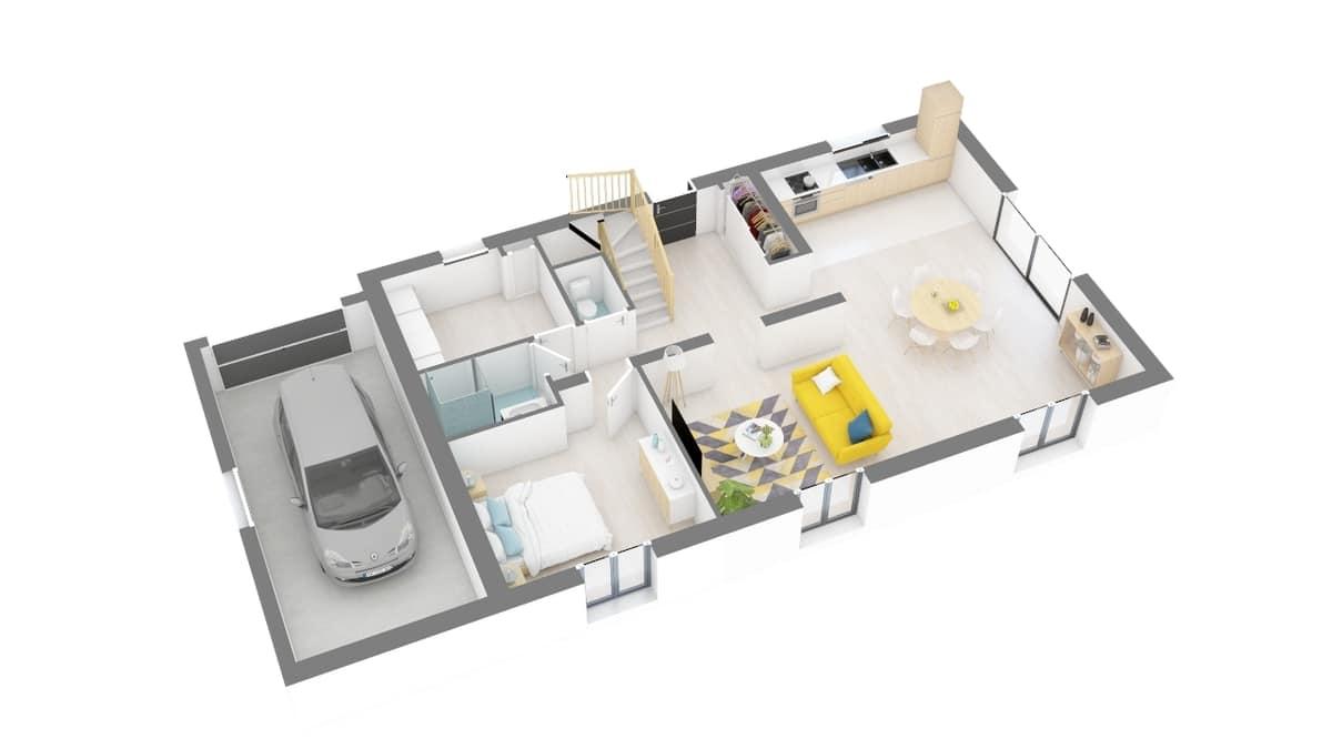 plan maison_magnolia-g0-axo_rdc