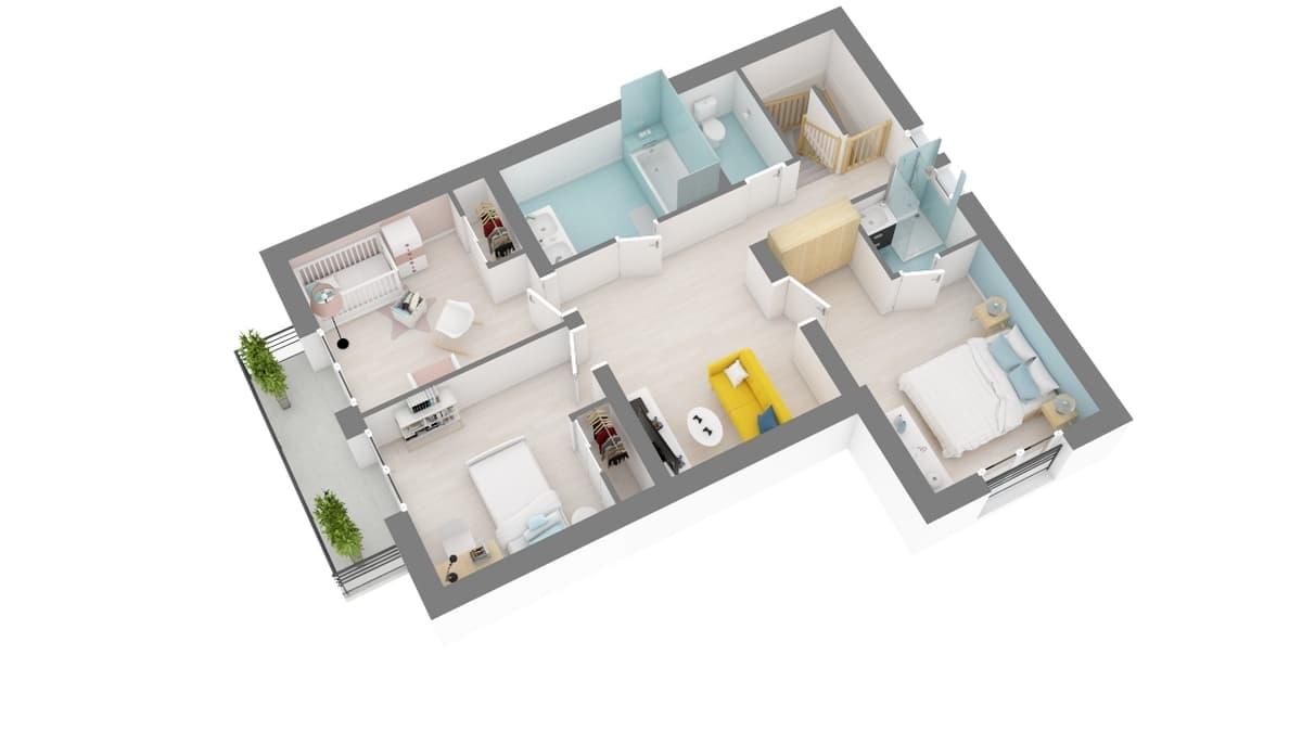 plan maison_narcisse-g2-axo_etage