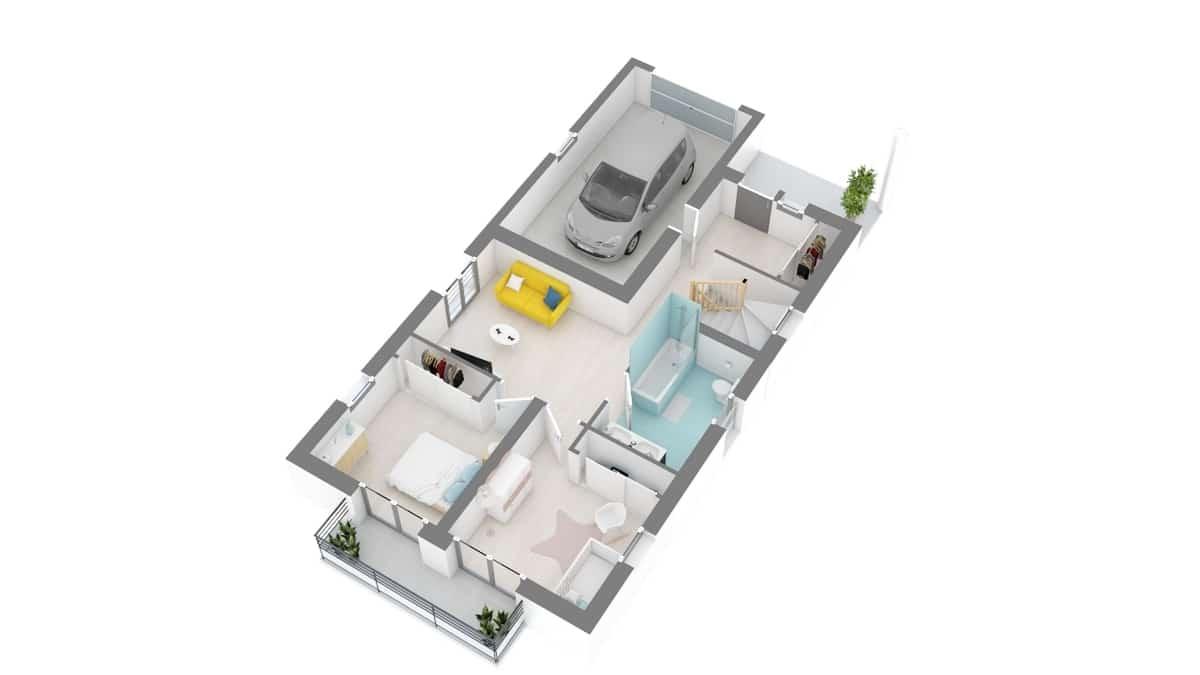 plan maison_perce_neige-g1-axo_etage1