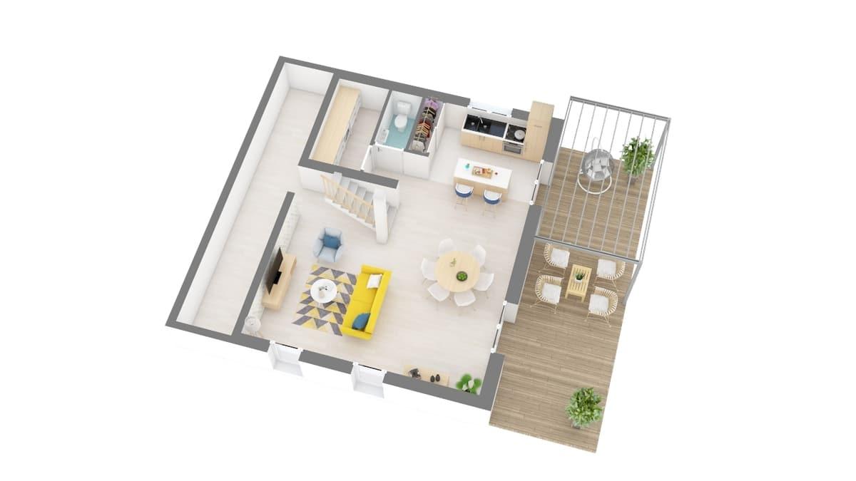 plan maison_topaze-g0-axo_rdc