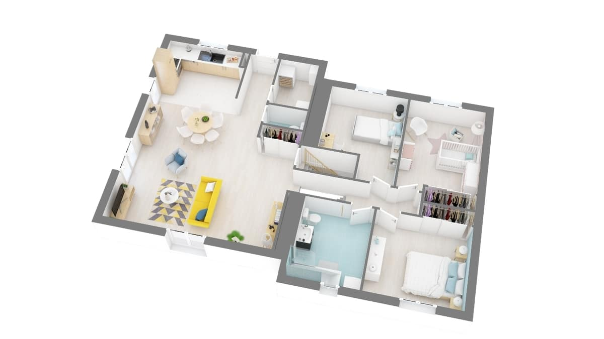 plan maison_turquoise-g1-axo_rdc
