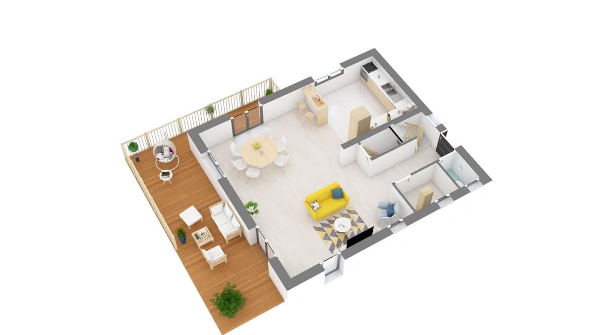plan maison_vanoise-g1-axo_rdc
